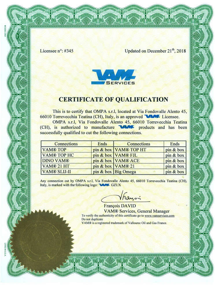 Ompa - Vallourec Connections Products